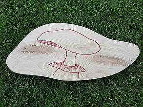 Pomôcky - Drevené lopáre s hubami (MUCHOTRÁVKA ČERVENÁ) - 10953295_