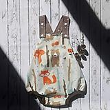 Detské oblečenie - Romperky les - 10953895_
