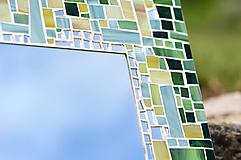 Zrkadlá - Mozaikové zrkadlo Zelené - 10955717_