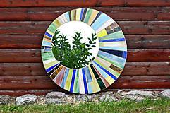Zrkadlá - Mozaikové zrkadlo... Forest Sunset - 10956340_