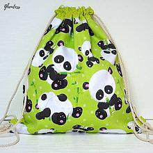 Detské tašky - Vak na záda - Pandy.. Papa.. Pandy - 10955000_