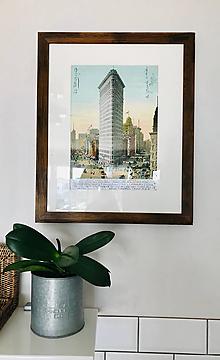 Nábytok - Vintage obraz v drevenom ráme