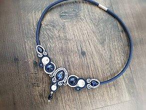 Náhrdelníky - Šujtášový náhrdelník  (Modrá) - 10954266_