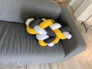 Textil - Detský mantinel biela antracit ostrá žltá 180 - 10954109_