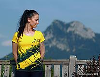 Topy, tričká, tielka - Dámske tričko maľované, batikované ACHILLEA - 10954949_