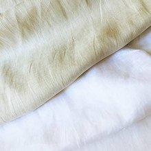 Textil - jemný splývavý 100 % ľan Francúzsko, šírka 140 cm - 10953915_