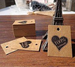 Papier - VI129 Visačka 100% Handmade 3x4 cm - 10956183_