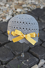 Detské čiapky - Háčkovaná čiapka - 10954089_