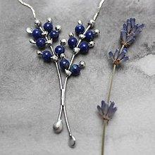 Náhrdelníky - Levanduľa modrá - náhrdelník - 10955359_
