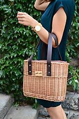 Kabelky - Prútená kabelka do ruky N°2 - 10956025_