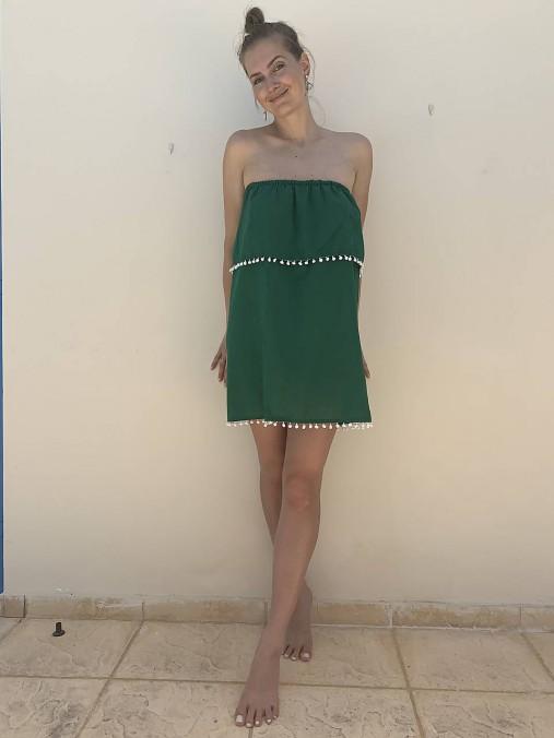 Šaty - Letné šaty bez ramienok - 10956818_