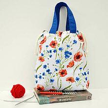 Iné tašky - Čakanková taška s makmi ~ tvoritaška + nákupná - 10955110_