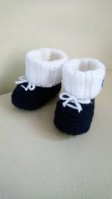 Topánočky - Háčkované čižmičky s patentom - 10954655_