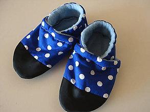 Topánočky - látkové capačky - 10953980_