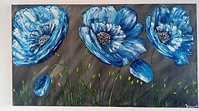 Obrazy - Modré kvety - 10954484_