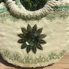 Kabelky - Originálna košíková spoločenská kabelka - 10955755_