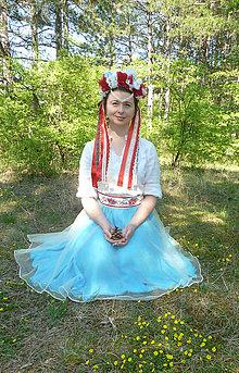 Ozdoby do vlasov - Holubička červená - 10956413_