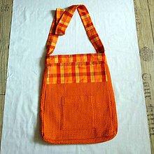 Iné tašky - látková taška oranžová - 10956460_