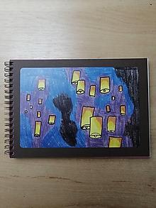 Papiernictvo - Zošit, notes A5, lampióny šťastia - 10954948_