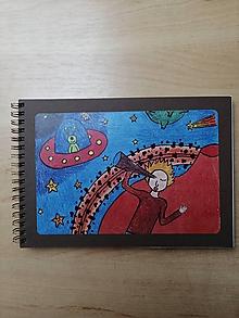 Papiernictvo - Zošit, notes A5, ufo - 10955063_
