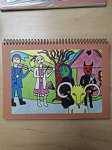 Papiernictvo - Zošit, notes A4, fašiangy - 10955485_