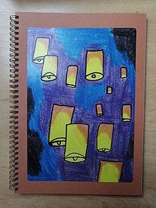 Papiernictvo - Zošit, notes A4, lampióny šťastia - 10955515_