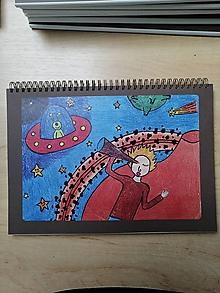 Papiernictvo - Zošit, notes A4, ufo - 10955582_