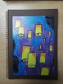 Papiernictvo - Zošit, notes A4, lampióny šťastia - 10955590_