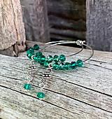 Náušnice - Smaragdovozelené kruhy - náušnice - 10956361_