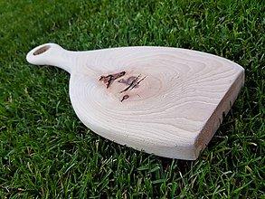 Pomôcky - Drevené lopáre s hubami (S RÚČKOU) - 10956532_