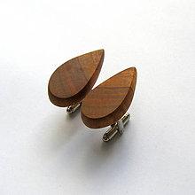 Šperky - Drevené manžetové gombíky - hruškové slzy - 10956375_