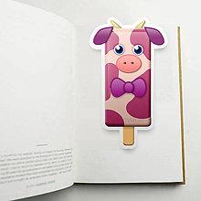 Papiernictvo - Nanuk záložka do knihy - kravička - 10954060_