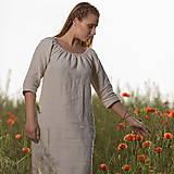 Šaty - Ľanové šaty Vesna prírodné - 10957476_