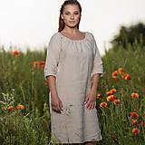 Šaty - Ľanové šaty Vesna prírodné - 10957480_
