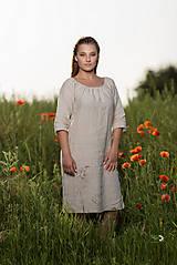 Šaty - Ľanové šaty Vesna prírodné - 10957481_