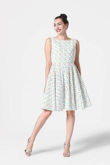 Šaty - Šaty biele s farebnými pierkami - 10957088_