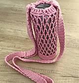 Iné tašky - Taška na fľašu v ružovom s retro prackou - 10957346_