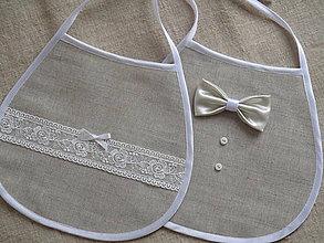Iné doplnky - Svadobné podbradníky s krémovou čipkou - 10957565_