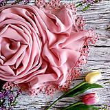 Šály - Růžový prach   šifónový šál starorůž - 10957826_