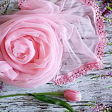 Šály - V mlze zamilovaných - průhledný svadobny šál - 10957043_