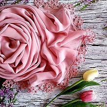 Šály - Růžový prach - šifónový šál starorůž - 10957826_