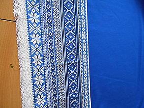 Sukne - FLORAL FOLK - kruhová sukňa s vačkami, krížiková, ako vyšívaná... (Modrá) - 10957519_