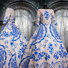 """Šaty - FLORAL FOLK """" Slovenská ornamentika """", spoločenské dlhé šaty - 10959378_"""