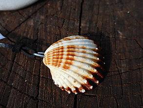 Náhrdelníky - pri mori-mušľa - 10959758_