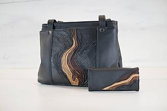 Veľké tašky - Kožený set - Anita s peňaženkou - 10959766_