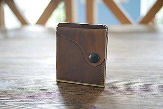 Peňaženky - Kožená dolarovka - vykrojená - 10959867_