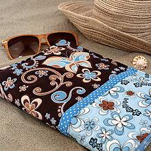 Úžitkový textil - Obal na knihu -Na pláži - 10956936_