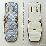 Textil - VLNIENKA  podložka ABC DESIGN 100% WOOL MERINO šedá Elegant - 10959568_