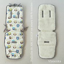 Textil - VLNIENKA  podložka ABC DESIGN 100% WOOL MERINO sovičky - 10959600_