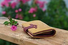 Peňaženky - Menšia kožená peňaženka IX. - 10959323_